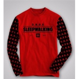 Katalog High5 Fashion Pria Kaos Lengan Panjang Sleepwalking Merah High5 Terbaru