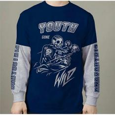 Jual High5 Fashion Pria Kaos Lengan Panjang Youth Wild Navy Blue Branded Original