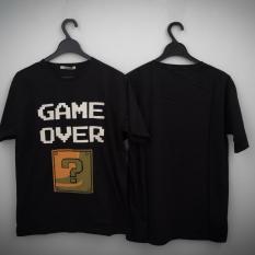 HIGH5 Fashion Pria Kaos Lengan Pendek GAME OVER hitam