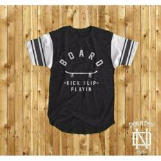 HIGH5 Fashion Pria Kaos Lengan Pendek Skaters tshirt Hitam