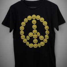 HIGH5 Fashion Pria Kaos Lengan Pendek SMILE hitam