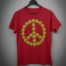 HIGH5 Fashion Pria Kaos Lengan Pendek SMILE merah