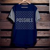 Beli High5 Fashion Pria Kaos Possible Biru Dongker Yang Bagus