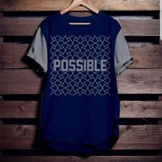 Beli High5 Fashion Pria Kaos Possible Biru Dongker Kredit