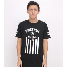 Harga High5 Kaos Pria Awesome New York City Hitam Black Branded