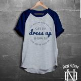 Spesifikasi High5 Kaos Pria Get Up Dress Up Show Up Abu Dongker Murah