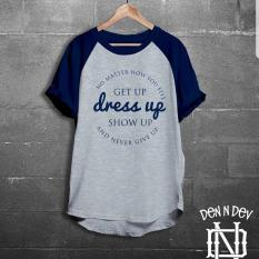 Jual High5 Kaos Pria Get Up Dress Up Show Up Abu Dongker Murah