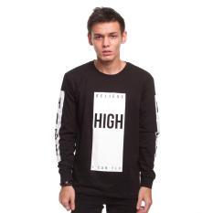 High5 Kaos Pria Lengan Panjang High Believe I Can Fly Hitam Black Diskon Indonesia