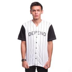 Jual High5 Kemeja Lengan Pendek Pria Baseball Varsity Defend Putih White High5 Online