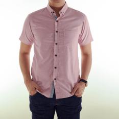 Beli High5 Kemeja Lengan Pendek Slim Fit Merah Muda Dengan Kartu Kredit