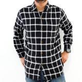 Spesifikasi High5 Kemeja Pria Lengan Panjang Flanel Hitam Kotak Merk High5