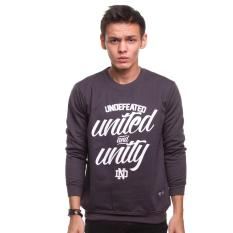 Spek High5 Sweater Pria Undefeated United And Unity Abu Gelap Dark Grey High5