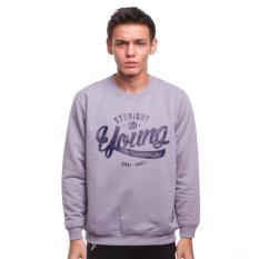 High5 Sweater Pria Young And Straight Abu Grey Asli