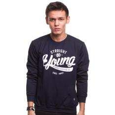 Spesifikasi High5 Sweater Pria Young And Straight Biru Dongker Navy Blue Yang Bagus