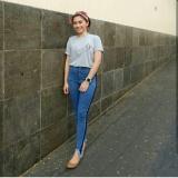 Toko Highwaist Punny Stripe Jeans Terlengkap Indonesia