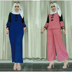 Hijab 2In1 Sandrin 2Warna Pink Dan Navy BAJU MURAH KONVEKSI TANAH ABANG