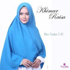 Hijab Alsa Raisa Jilbab Syari Instan Langsung Pakai Warna Biru Toska