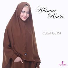 Hijab Alsa Raisa Jilbab Syari Instan Langsung Pakai Warna Cokelat Tua