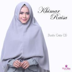 Hijab Alsa Raisa Jilbab Syari Instan Langsung Pakai Warna Dusty Grey