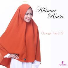 Hijab Alsa Raisa Jilbab Syari Instan Langsung Pakai Warna Orange