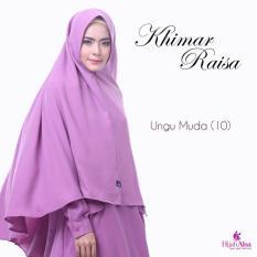 Hijab Alsa Raisa Jilbab Syari Instan Langsung Pakai Warna Ungu Muda