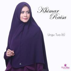 Hijab Alsa Raisa Jilbab Syari Instan Langsung Pakai Warna Ungu Tua
