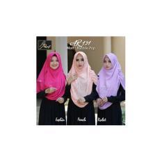 Hijab Ar Rafi AR 131 Pashmina Instan Violet Ungu