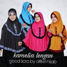 Hijab Bandung Kerudung Khimar Kamelia Lengan