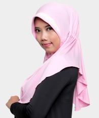 Hijab Bergo Seroja Zehra - Pink