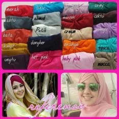 Hijab Cantik / Jilbab Ciput Arab Kerut / Ciput Risty Tagor Grosir Seri 3 Buah - Multicolor