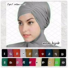 Hijab Cantik / Jilbab Ciput / Inner Antem Kerut Grosir Seri 3 Buah - Multicolor