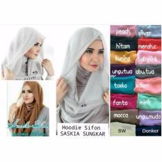 Hijab Cantik / Jilbab Instant Hoodie Saskia Grosir Seri 3 Buah - Multicolor