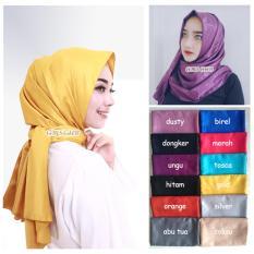 Hijab Cantik / Jilbab Pashmina Velvet Emboss - Grosir Seri 3 Buah - Multicolor