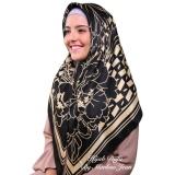 Toko Hijab Dafa Pashmina Bunga Hijab Satin Segi Empat Jilbab Motif Bunga Kombinasi Bahan Satin Seri Warna Hitam Emas Golden Silk D Lengkap Dki Jakarta