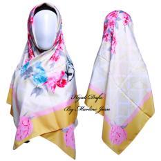 Review Hijab Dafa Pashmina Bunga Hijab Satin Segi Empat Jilbab Motif Bunga Kombinasi Bahan Satin Motif Flower Ts1 Kuning Terbaru
