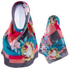 Promo Hijab Dafa Pashmina Bunga Hijab Scraf Jilbab Motif Bunga Kombinasi Bahan Poly Turkey Turkish Motif 2 Hitam Di Dki Jakarta