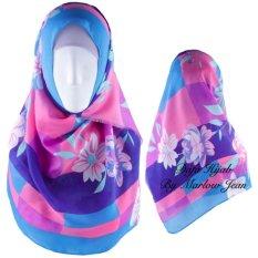 Beli Hijab Dafa Pashmina Bunga Hijab Scraf Jilbab Motif Bunga Kombinasi Bahan Poly Turkey Turkish Motif 2 Toska Kombinasi Ungu Hijab Dafa By Marlow Jean Dengan Harga Terjangkau