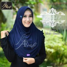 Spesifikasi Hijab Instan Arrafi Rumana Rempel Navy Jilbab Kerudung Bergo Dan Harganya