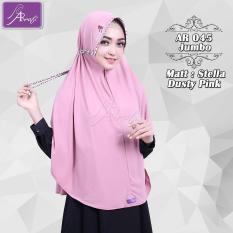 hijab instan Arrafi Talita Jumbo B (warna Dusty Pink) Ar45J jilbab kerudung syari jumbo bergo khimar