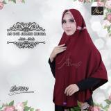 Beli Hijab Instan Arrafi Talita Jumbo B Warna Marun Ar45J Jilbab Kerudung Syari Jumbo Bergo Khimar Cicil