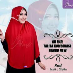 Toko Hijab Instan Arrafi Talita Jumbo B Warna Red Ar45J Jilbab Kerudung Syari Jumbo Bergo Khimar Termurah