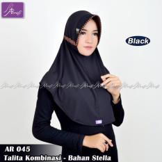 Beli Hijab Instan Arrafi Talita Kombinasi Warna Hitam Ar45A Jilbab Kerudung Online