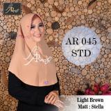 Hijab Instan Arrafi Talita Kombinasi Warna Light Brown Ar45A Jilbab Kerudung Bergo Khimar Arrafi Diskon 30