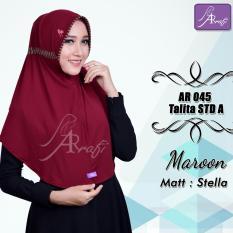 Toko Hijab Instan Arrafi Talita Kombinasi Warna Marun Ar45A Jilbab Kerudung Bergo Khimar Arrafi Jawa Tengah