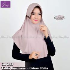 Hijab Instan Arrafi Talita Kombinasi Warna Mocca Ar45A Jilbab Kerudung Bergo Khimar Jawa Tengah