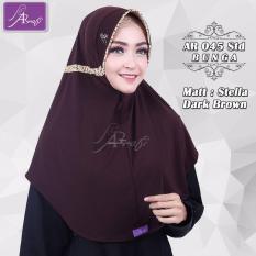 Hijab Instan Arrafi Talita List Bunga (warna Dark Brown) AR45Bu jilbab kerudung