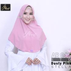 Hijab Instan Arrafi Talita List Bunga (warna DustyPink) AR45Bu jilbab kerudung gamis fashion bergo