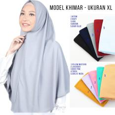 Hijab Instan Najwa Polos XL - Jilbab Instan Kerudung Instan XL