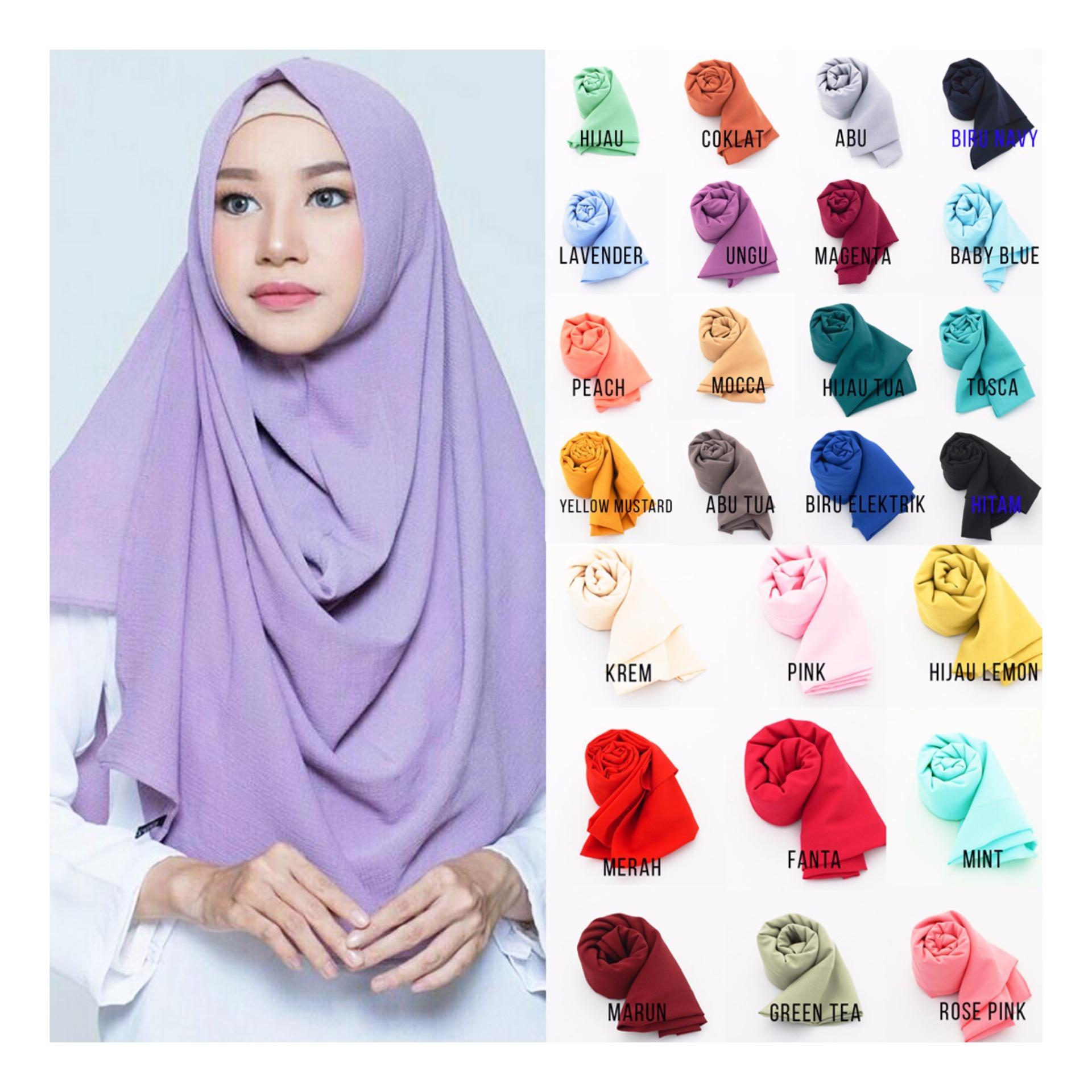 Cara Beli Hemat Premium Jilbab Hijab Kerudung Instan Khimar Syari Aisyah Serut Pashmina 1 Lubang Pasmina Diamond Pastan Cantik