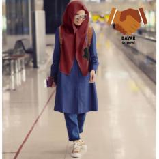 Hijab Instant Hoodie Rina Nose - Maroon